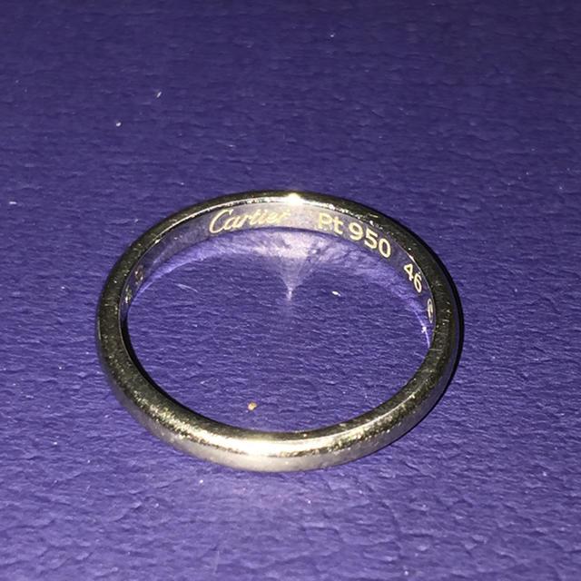 Cartier(カルティエ)のカルティエプラチナpt950リング レディースのアクセサリー(リング(指輪))の商品写真