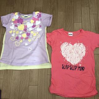 ベベ(BeBe)のSLAP SLIP easyfreak Tシャツ 2枚セット 110(Tシャツ/カットソー)