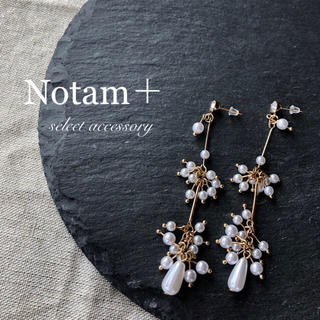 アメリヴィンテージ(Ameri VINTAGE)のN-107 White Pearl tassel pierce(ピアス)