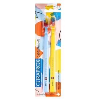 《限定クラプロックス》モザイク柄(ライトブルー&イエロー)ウルトラソフト5460(歯ブラシ/デンタルフロス)