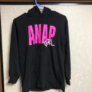 アナップキッズ(ANAP Kids)のパーカーワンピース ロング ANAP アナップ girl  ガール(ワンピース)