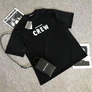 バレンシアガ(Balenciaga)のBALENCIAGA Crew ラージフィット Tシャツ バレンシアガ 黒 ブラ(Tシャツ(半袖/袖なし))