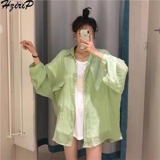 Kastane - 即時発送★シアーシャツ green