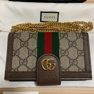 Gucci - GUCCI iPhone用ケース オフィディア X/XS対応 チェーン付きケース