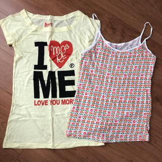 ロデオクラウンズワイドボウル(RODEO CROWNS WIDE BOWL)のtシャツ キャミソール セット(キャミソール)