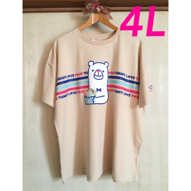 しまむら(シマムラ)のしまむらコラボTシャツ ロールアイスクリームファクトリー 4L 綿100% レディースのトップス(Tシャツ(半袖/袖なし))の商品写真