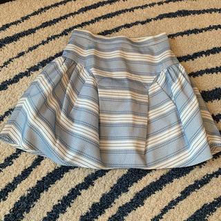 バーニーズニューヨーク(BARNEYS NEW YORK)のO'2nd 水色フレアスカート(ミニスカート)