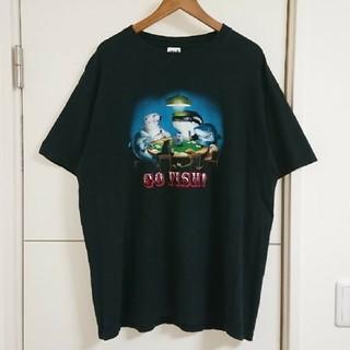 Anvil - アニマルプリント Tシャツ 90s古着 イルカ ペンギン等 ビッグシルエット