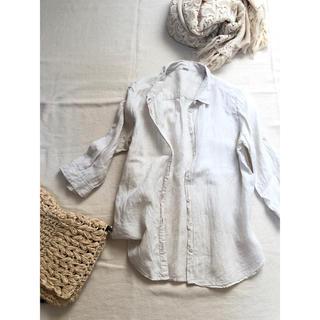 パーリッシィ(PAR ICI)の*PAR ICI* リネン100%七分そでシャツ(シャツ/ブラウス(長袖/七分))