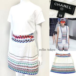 CHANEL - シャネル エアライン 2016 ランウェイ着 ツイード スカート E2204
