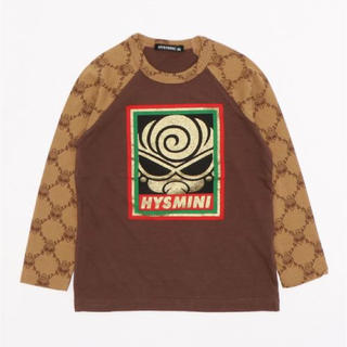 HYSTERIC MINI - HYSTERIC MINI GRAFFITI 総柄ラグラン長袖Tシャツ