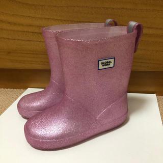 GLOBAL WORK - グローバルワーク 長靴 レインブーツ 16 女の子 ピンク ラメ 完売 レア