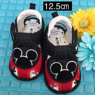ディズニー(Disney)のベビーシューズ✩ディズニースニーカーサンダル ミッキーデニム 幼児 赤ちゃん(サンダル)