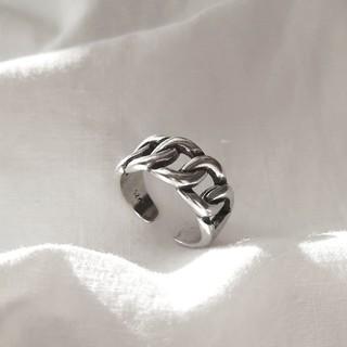 アメリヴィンテージ(Ameri VINTAGE)の【 再入荷 】925 wide chain ring 🍒 ラスト1点(リング(指輪))