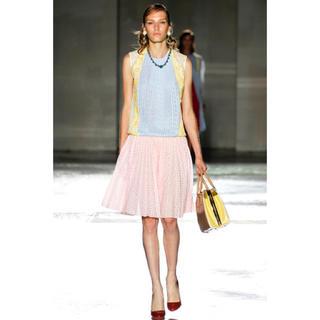 PRADA - Prada 2012ssコレクション レース プリーツスカート