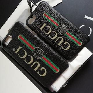 Gucci - 正規店購入グッチ★ ロゴ  iPhone 8 & 8Plus 新品、箱付き黒