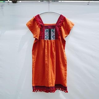 アメリヴィンテージ(Ameri VINTAGE)のVintage Fringe dress / Orange(ひざ丈ワンピース)