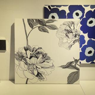 マリメッコ(marimekko)のファブリックボード アートパネル 花柄(ファブリック)