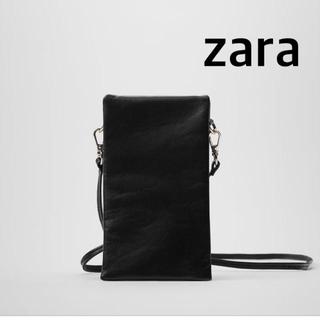 ザラ(ZARA)のZARA リアルレザースマートフォンポーチ(ショルダーバッグ)