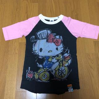 ジャム(JAM)のJAM×キティコラボTシャツ 150 ブラック×ピンク(Tシャツ/カットソー)