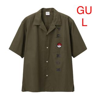 GU - GU ジーユー ポケモン シャツアウター  半袖シャツ L