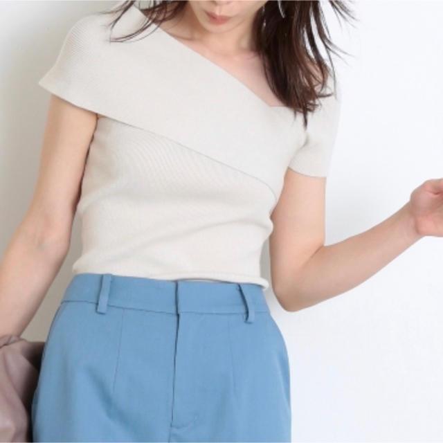 snidel(スナイデル)のスナイデル♡ イレヘムディフォメーションニットプルオーバー レディースのトップス(ニット/セーター)の商品写真