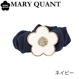 マリークワント(MARY QUANT)のMARY QUANTマリークヮントシュシュ新品未使用タグ付きネイビー(ヘアゴム/シュシュ)
