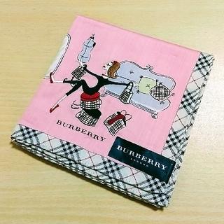 BURBERRY - バーバリー ハンカチ 女の子 刺繍