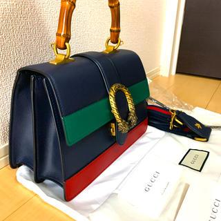 Gucci - 【新品未使用】GUCCI ディオニュソス レザー トップハンドルバッグ