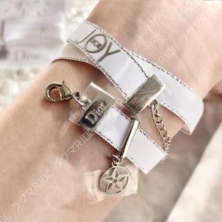 Christian Dior - 【新品未使用】ディオール 限定非売品 リボン ネックレス ブレスレット 追跡配送
