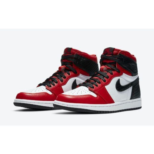 NIKE(ナイキ)のNIKE AIR JORDAN1 HIGH OG SATIN RED SNAKE レディースの靴/シューズ(スニーカー)の商品写真
