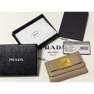 PRADA - PRADA 6連リボンキーケース サフィアーノ