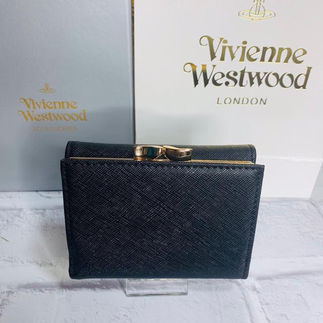 Vivienne Westwood(ヴィヴィアンウエストウッド)の新品 正規品 ヴィヴィアンウエストウッド 三つ折り財布 ブラック レディースのファッション小物(財布)の商品写真