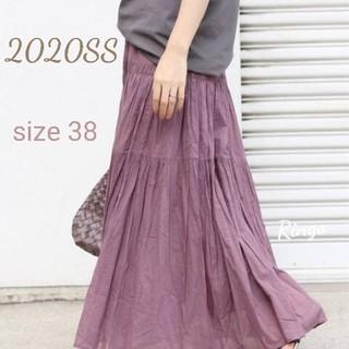 IENA - 【2020SS】コットンボイル ティアードスカート◆パープル/size 38