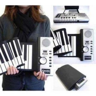 コンパクト 持ち運び ロールピアノ 電子ピアノ 鍵盤 軽量 楽器(電子ピアノ)
