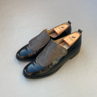 SUNSEA - SUNSEA Shell  Shoes GLASS/ Glass BK×BK