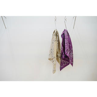 UNUSED - UNUSED(アンユーズド)Silk Bandana/Purple