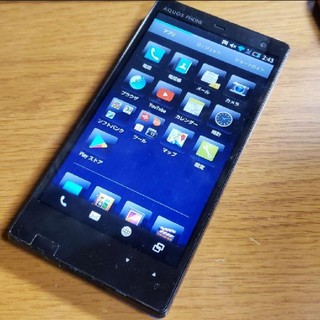 アクオス(AQUOS)のSoftBank AQUOS PHONE Xx 203SH ブルー(スマートフォン本体)