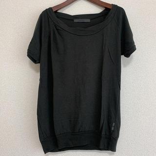 イーハイフンワールドギャラリー(E hyphen world gallery)のEhyphen ねじりネックカットソー Tシャツ(Tシャツ(半袖/袖なし))