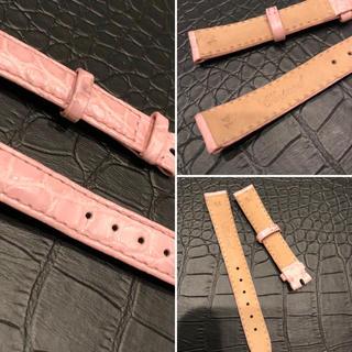 ショパール(Chopard)のショパール 替えベルト 純正 ピンク マットクロコダイル .時計は参考画像(腕時計)
