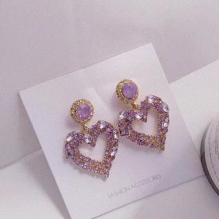 Big Purple Heart /ピアス/イヤリング