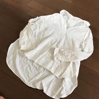 スキッパーシャツ 大人 キレイ 白