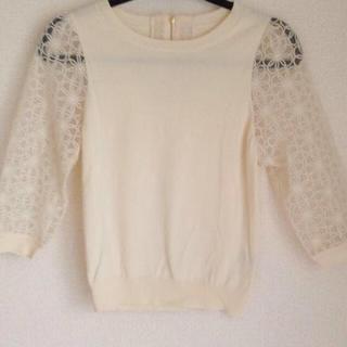 リランドチュール(Rirandture)の石原さとみドラマで着用 袖刺繍シースルー(ニット/セーター)