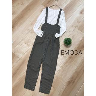 EMODA - EMODA  ハイウエストサロペット オーバーオール ストライプ Mサイズ