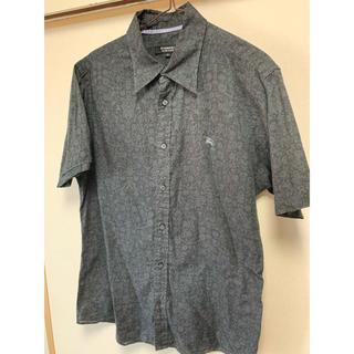 BURBERRY BLACK LABEL - バーバリー ブラック花柄シャツ Mサイズ