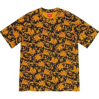 Supreme - Small Box Tee Black Floral M フローラル Tシャツ
