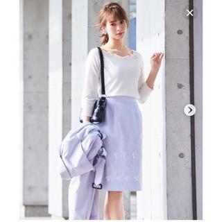 Debut de Fiore - 新品タグ デビュードフィオレ レッセパッセ 3D刺繍タイトスカート 38