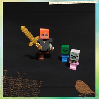 マイクラ レゴ 互換品 赤ちゃんゾンビ ちびゾンビ アレックス 鎧装備