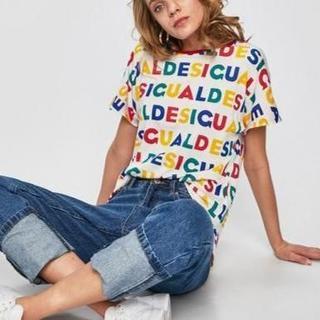 デシグアル(DESIGUAL)の新品 タグ付き 大きめ デシグアルロゴTシャツ(Tシャツ(半袖/袖なし))