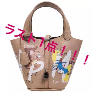 ZARA - 【大人気】トムとジェリー ピコタン ペイント革ハンドバッグ